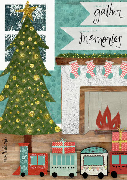 Fireplace Painting - Gather Memories by Katie Doucette
