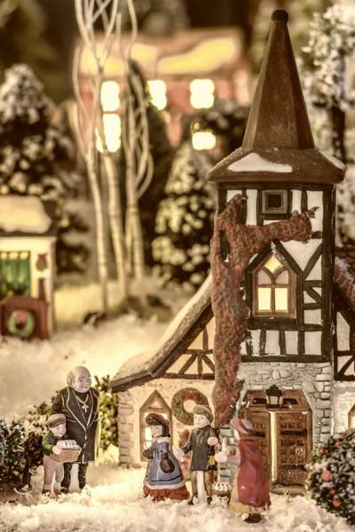 Weihnachten Photograph - Gathering In The Churchyard by Caitlyn  Grasso