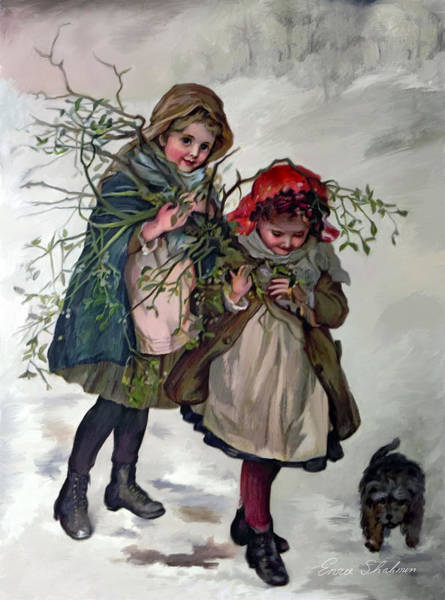 Painting - Gathering Mistletoe by Portraits By NC