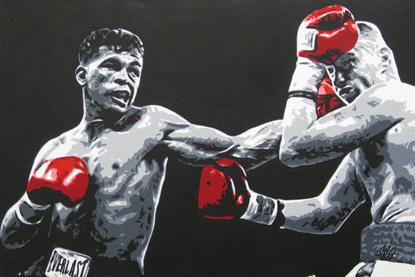 Ward Painting - Gatti Vs Ward by Geo Thomson