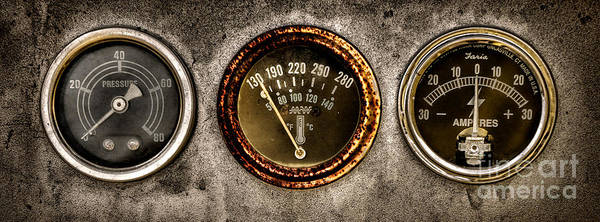 Gauge Photograph - Gauges  by Olivier Le Queinec