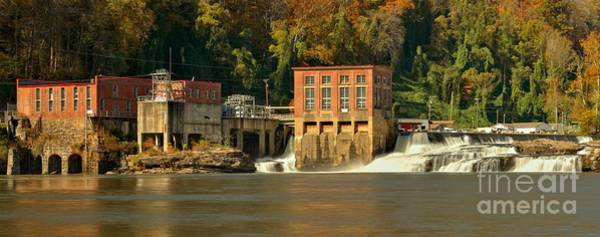 Photograph - Gauley Bridge Hydro Plant And Kanawha Falls Panoramic by Adam Jewell