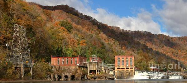 Photograph - Gauley Bridge Hydroelectric Plant by Adam Jewell