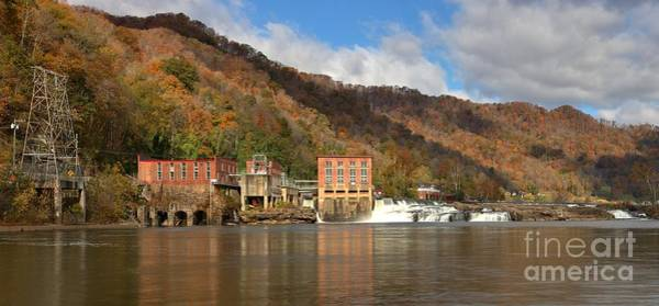 Photograph - Gauley Bridge Hydroelectric Plant Panorama by Adam Jewell