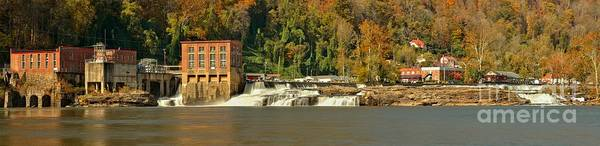 Photograph - Gauley Bridge Hydroelectric Powerplant Panorama by Adam Jewell