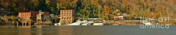 Photograph - Gauley Bridge Kanawha Falls Panorama by Adam Jewell