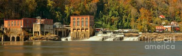 Photograph - Gauley Bridge Powerplant Panorama by Adam Jewell