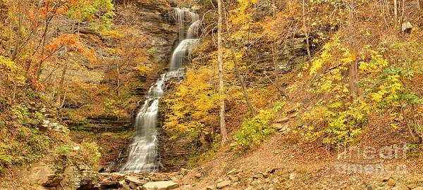 Photograph - Gauley Bridge Waterfall Panorama by Adam Jewell