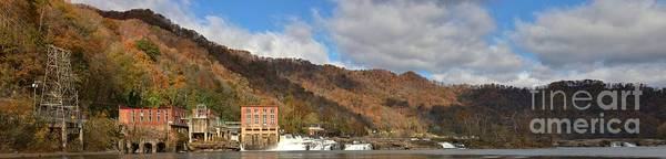 Photograph - Gauley Brige New River Panorama by Adam Jewell