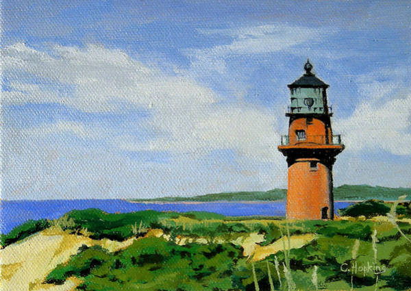 Wall Art - Painting - Gay Head Lighthouse Martha's Vineyard Massachusetts by Christine Hopkins