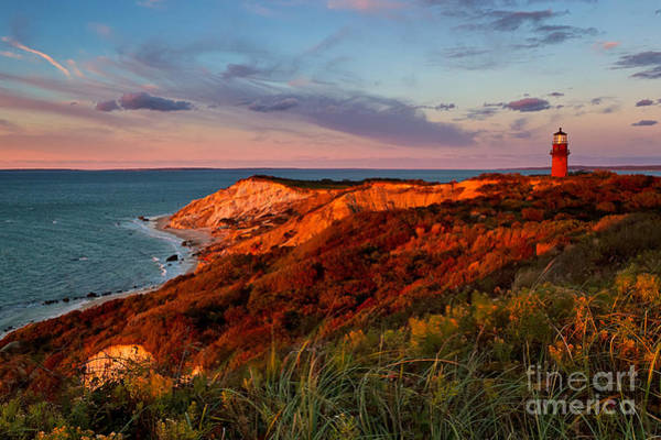 Red Bluff Photograph - Gay Head Lighthouse Sunset by Katherine Gendreau