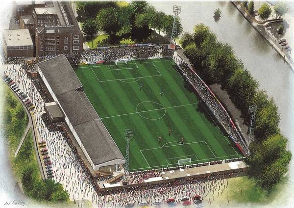 Wall Art - Painting - Gay Meadow - Shrewsbury Town by Kevin Fletcher