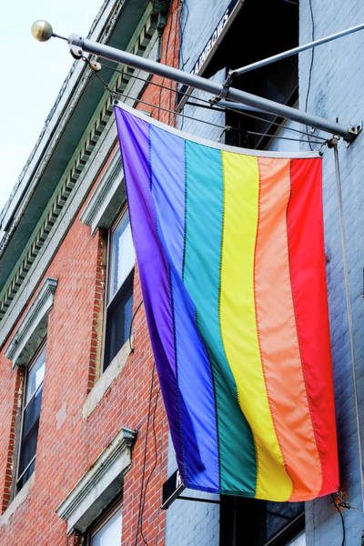 Gay Pride Flag Photograph - Gay Pride Flag, New York City, New York by Julien Mcroberts