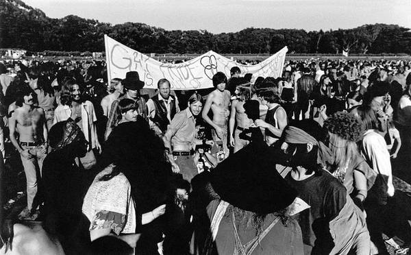 Equal Rights Wall Art - Photograph - Gay Pride Gathering by Underwood Archives Adler