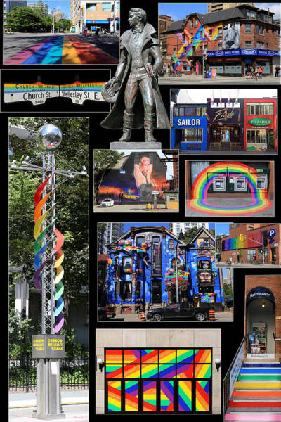 Gay Pride Flag Photograph - Gay Village 1 by Andrew Fare