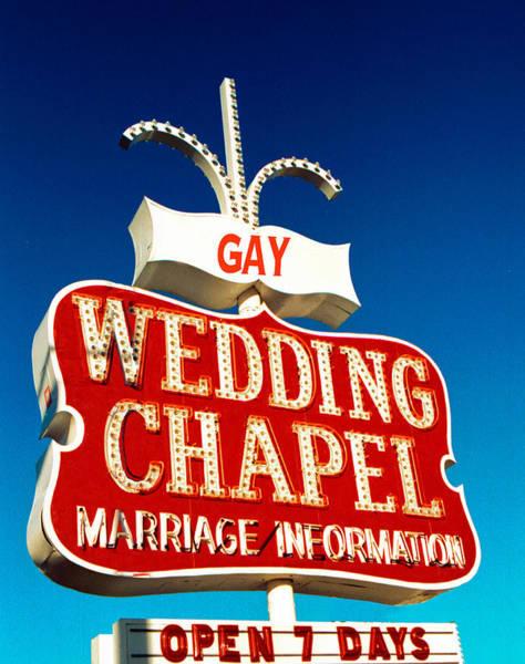 Lgbt Photograph - Gay Wedding Chapel by Matthew Bamberg