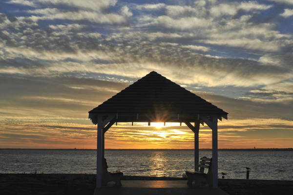 Photograph - Gazebo At The Bay by Terry DeLuco