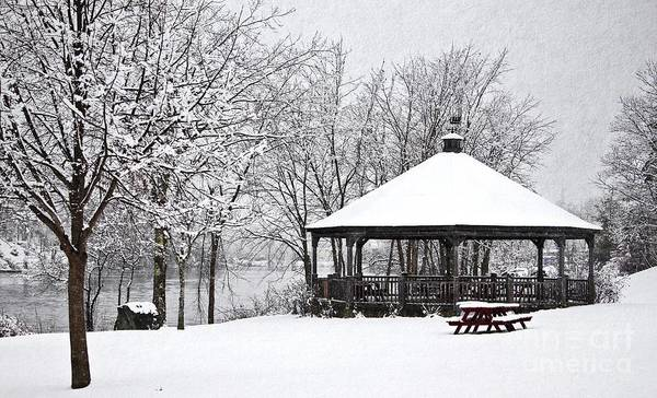 Photograph - Gazebo In The Snow by Karin Pinkham