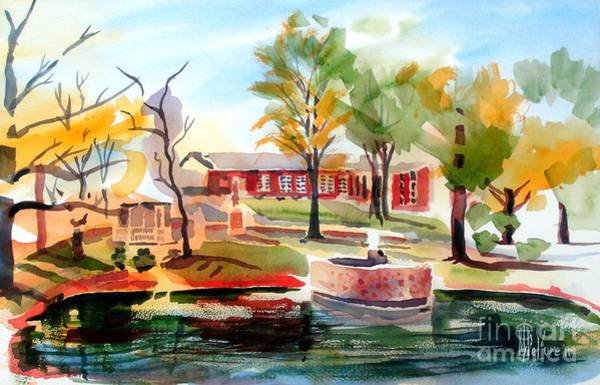 Painting - Gazebo Pond And Duck II by Kip DeVore