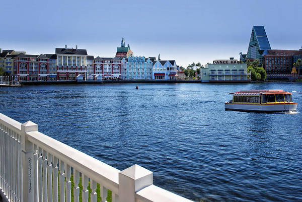 Wall Art - Photograph - Gazebo View Of The Boardwalk Walt Disney World by Thomas Woolworth