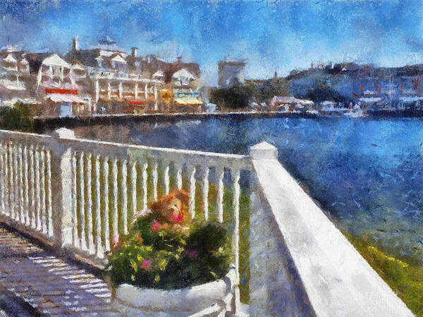 Wall Art - Photograph - Gazebo View Of The Boardwalk Wdw 04 Photo Art by Thomas Woolworth