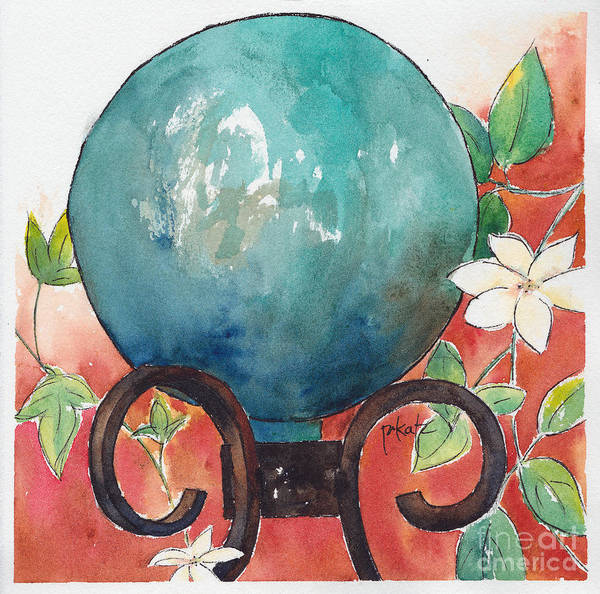 Painting - Gazing Ball by Pat Katz