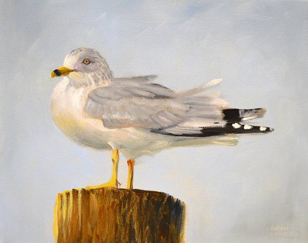 Gazing Gull Art Print