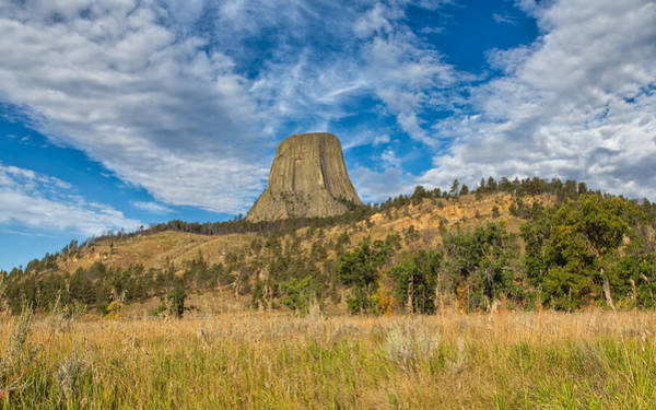 Photograph - Gazing Upon Devils Tower by John M Bailey