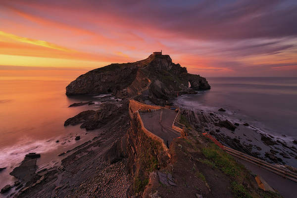 Path Photograph - Gaztelugatxe by Antonio Carrillo Lopez