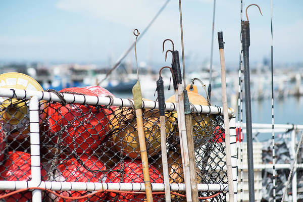 Wall Art - Photograph - Gear On Fishing Boat In San Diego by Rob Hammer
