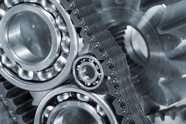 Industry Photograph - Gears And Cogs Titanium And Steel Power by Christian Lagereek