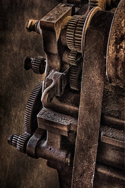 Abandonment Photograph - Gears And Pulley by Susan Candelario