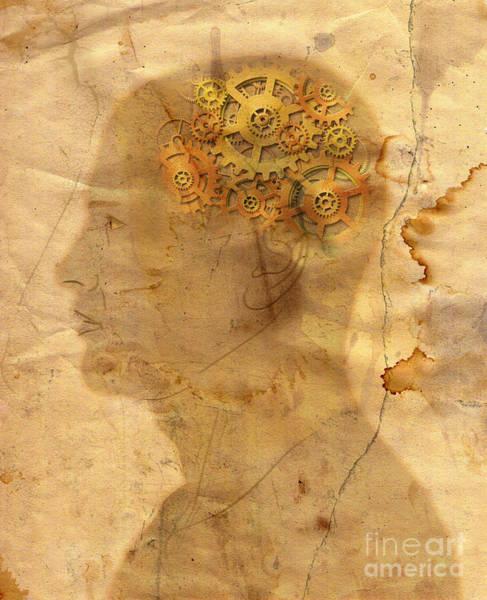 Wall Art - Digital Art - Gears In The Head by Michal Boubin