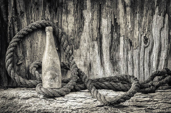 Photograph - Gebhard Brewery Beer Bottle by Nancy Strahinic