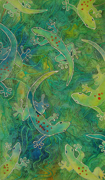 Painting - Gecko Magic by Terry Holliday