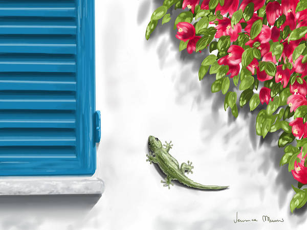 Greece Wall Art - Painting - Geco by Veronica Minozzi
