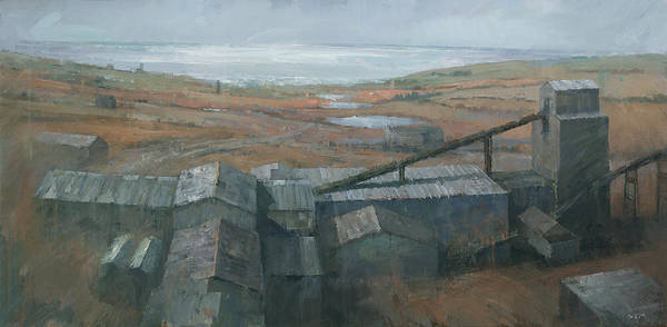 Wall Art - Painting - Geevor Tin Mine by Steve Mitchell