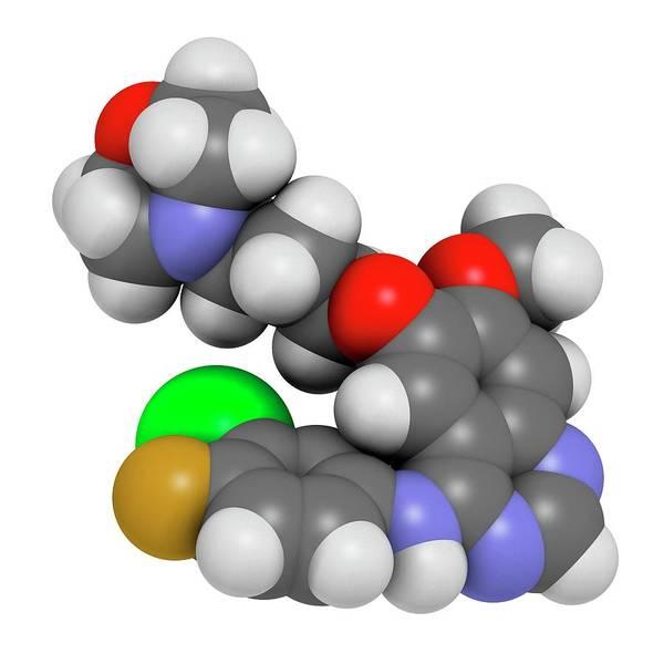 Lung Photograph - Gefinitib Cancer Drug Molecule by Molekuul