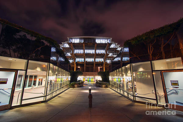 Photograph - Geisel Library Entrance by Eddie Yerkish
