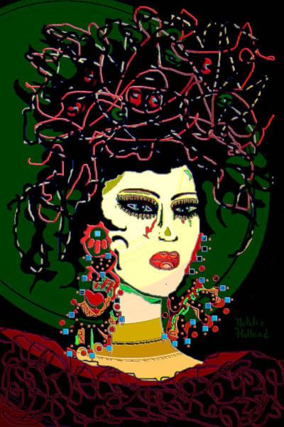 Jade Mixed Media - Geisha 6 by Natalie Holland
