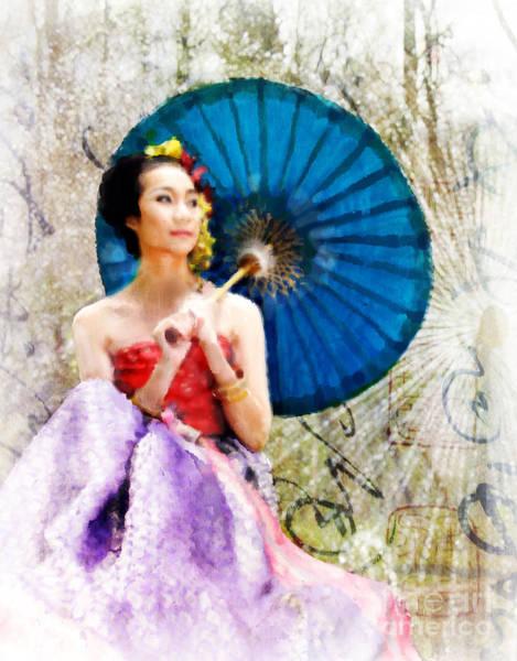 Photograph - Geisha by Elena Nosyreva