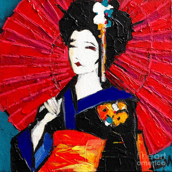 Wall Art - Painting - Geisha by Mona Edulesco