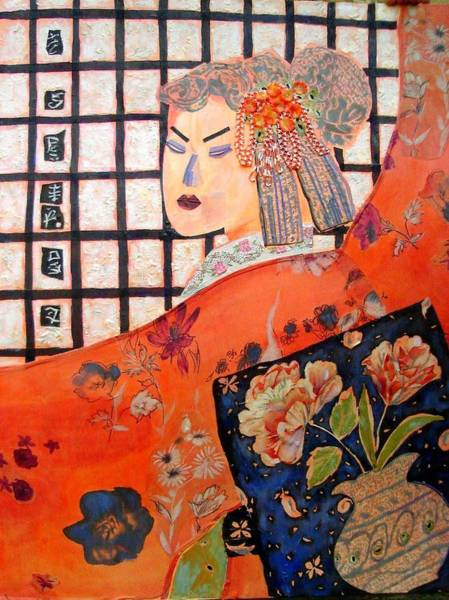 Geisha Mixed Media - Geisha Girl by Diane Fine