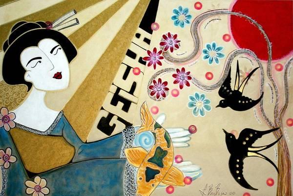 Wall Art - Painting - Geisha by Laura Barbosa