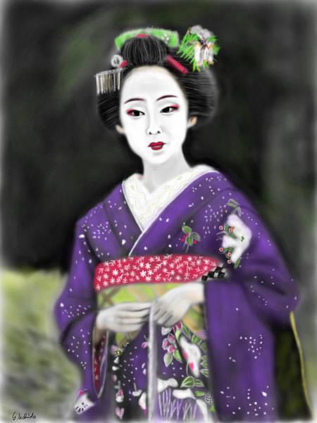 Painting - Geisha No.117 by Yoshiyuki Uchida