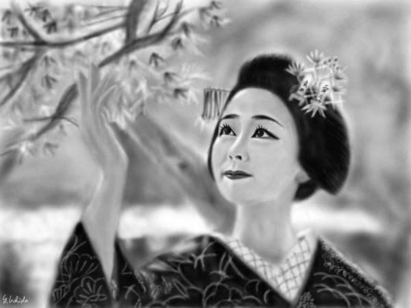 Painting - Geisha  No.120 by Yoshiyuki Uchida