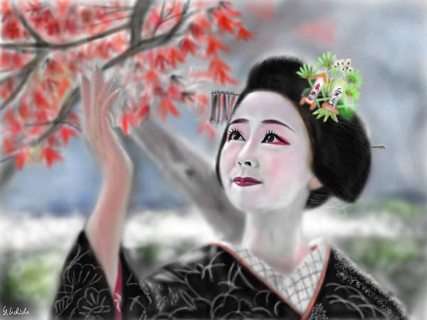 Painting - Geisha No.121 by Yoshiyuki Uchida