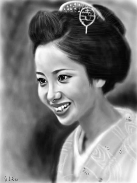 Painting - Geisha No.122 by Yoshiyuki Uchida
