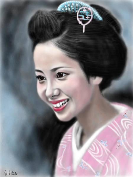 Painting - Geisha No.123 by Yoshiyuki Uchida