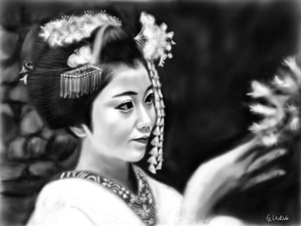 Painting - Geisha No.124 by Yoshiyuki Uchida